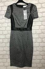 PAPER DOLLS LADIES DRESS SIZE 8 PENCIL DRESS BLACK GREY MIX *BNWT* DEBENHAMS