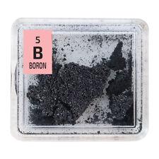 Boron 99% Element B pure Crystals Sample in Periodic Element Tile.