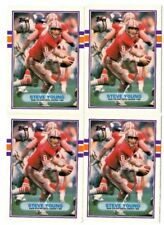 (4-card lot) 1989 Topps Traded STEVE YOUNG lot #24T    [NrMt-Mint]