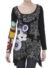 T-SHIRT  TUNIQUE     DESIGUAL   ADDIE  Black   Taille L