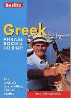 Greek Berlitz Phrase Book and Dictionary (Berlitz Phrasebooks), unknown, Very Go