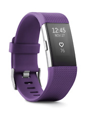 Fitbit Charge 2 Heart Rate Fitness Wristband Large Plum