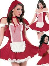 GORGEOUS LITTLE RED RIDING HOOD Womens Ladies Costume Free Postage
