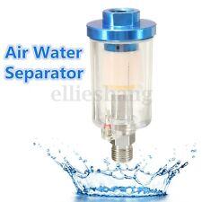 Inline 1/4'' Air Oil Water Separator Trap Filter For Compressor Spray Paint Gun