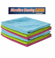 6 Large Microfibre Home Kitchen Car Valeting Dusters Polishing Cleaning Cloths