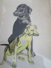 PAINTING PAIR OF DOGS FROM SOUTH AFRICA