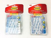LOT of 2 3M Command Clear Decorating Clips Value Pack (40 Clips, 48 Strips-Pack)