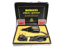 Burgess Black Vibro-Graver Electric Engraver Tool Vintage 50-60 Cycle 115V AC