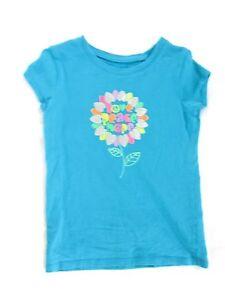 Girls Target Circo 6/6X, baby blue short sleeve top blouse t shirt 100% cotton