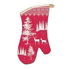Michel Design Works Cotton Kitchen Oven Mitt Christmas Snowy Night - NEW