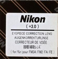 Nikon FM3A ,FM2,FA,FE Eyepiece Diopter lens +3 Genuine Nikon