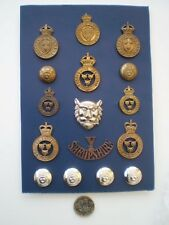 A collection of Shropshire Yeomanry Badges and Buttons