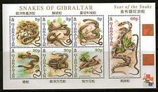 GIBRALTAR SGMS967 2000 YEAR OF THE SNAKE MNH