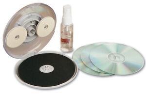 CD/DVD Disc Repair Kit Hand Crank Cleans Surface Fix Small Light Scratches