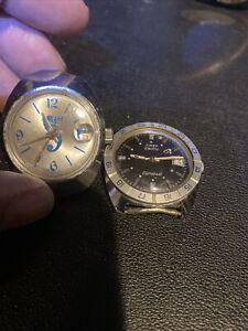 2- Vintage Timex Electric Dynabeat / Basis Swiss Men's Watch