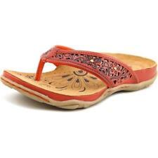Sandalias y chanclas de mujer de tacón bajo (menos de 2,5 cm) de color principal rosa de piel