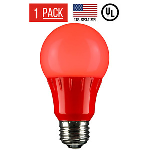 5W LED A19 COLORED LIGHT BULB, NON-DIMMABLE, E26 MEDIUM BASE, RED