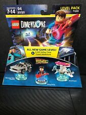 Lego Dimensions Back to the Future Level Pack Marty McFly DeLorean Hoverboard