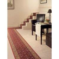 Hallway Runner Carpet Rug Red 67cm Wide Rubber Backed Cardina Bidjar Per Metre