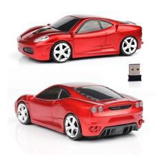 RU Nuevos 2.4GHz Inalámbrico 3D 1600DPI Ferrari Gaming Mouse USB óptico de forma de coche