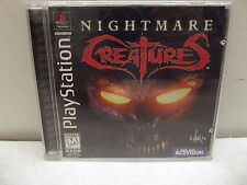 PLAYSTATION 1 BLACK LABEL NIGHTMARE CREATURES COMPLETE TESTED PS 2 3
