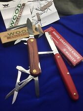 2 Swiss Army Knife Wenger Wood Collection 85 mm / Grafting Knife 100 mm