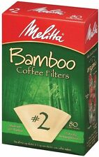 Melitta #2 Cone Bamboo Paper Coffee Filters, 80 Count - 6 Pack