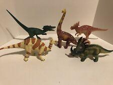 Set of 5 Geoworld Dinosaur Toy Plastic PVC Figures