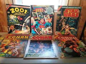 Six Oversized Comic Books, 3 Conan, Superman, Star Wars, 2001 Space Odyssey