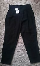 ZARA HIGH WAISTED CARROT TROUSERS  large