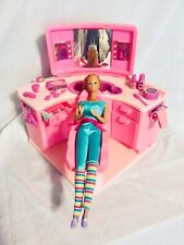 Vintage Mattel Barbie Beauty Salon 1983 With Accessories And 1966 Barbie
