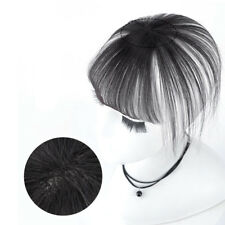 100% Human Hair Handwoven Air Bangs Thin Fringe Top Pieces Extensions For Women