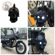 2017 LED Black Skull Head Light Motorcycle Headlight Lamp for Harley Dyna Custom