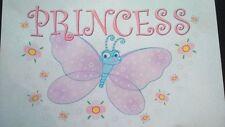 PRINCESS BUTTERFLY A5  IRON ON T SHIRT TRANSFER