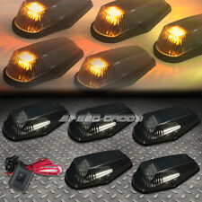 FOR 80-96 F-SERIES PICKUP 5PCS SMOKED YELLOW LED CAB ROOF RUNNING LIGHTS+SWITCH