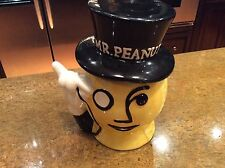 PLANTERS Mister MR PEANUT Head Cookie Jar Vintage very nice condition
