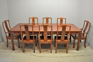 Large Dining Table with 8 Chairs Rosewood Hardwood Chinese Ming Delivery avail