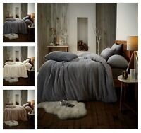 TEDDY BEAR Fleece Duvet Cover+PillowCase Bedding Set Or Fitted Sheet Warm & Cozy