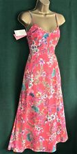 Monsoon 10 14 16 18 22 Coral Pink Lindsay Floral Cotton Holiday Summer Dress UK 18 (usa 14/eur46)