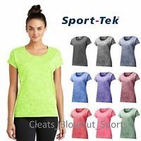 Sport-Tek Womens Heather Dri-Fit Workout Performance Dry Wicking T-Shirt LST390