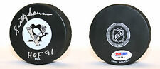 Scotty Bowman SIGNED Pittsburgh Penguins Puck + HOF 91 Coach PSA/DNA AUTOGRAPHED