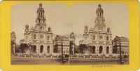 Chiesa Da La Trinità Parigi Francia Foto Stereo BK Vintage Albumina Ca 1870