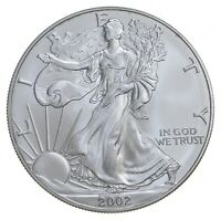 Better Date 2002 American Silver Eagle 1 Troy Oz .999 Fine Silver