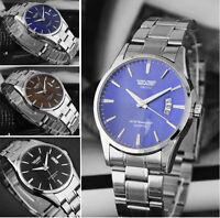 Digital Wasserdicht Herren Armbanduhr Quarz Uhren Edelstahl Herrenuhr Mens Watch