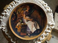 "Knowles Plate, Norman Rockwell, ""Dreaming in Attic"" No papers."