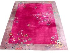 Fabulous Chinese Art Deco Rug with Butterfly & Floral Pattern #5216