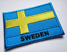 SWEDEN SWEDISH SVERIGE NATIONAL FLAG Sew on Patch Free Shipping