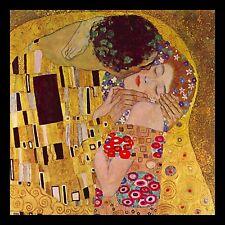 "GUSTAV KLIMT THE KISS 8x8"" Canvas POP Art Print"