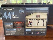 Lifetime 90703 44 inch Impact Backboard and Rim Basketball Combo