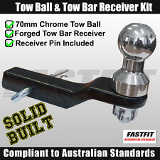 FastFit 70mm Chrome Finish Tow Ball & Solid Built Forged Towbar Receiver Kit